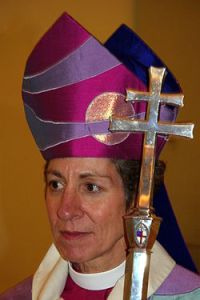 Bishop Katharine Jefferts Schori, first female Presiding Bishop of the Episcopal Church